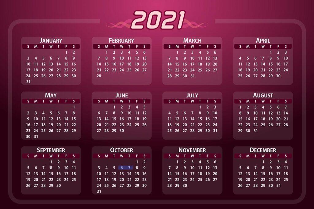 calendar-2021 IOB