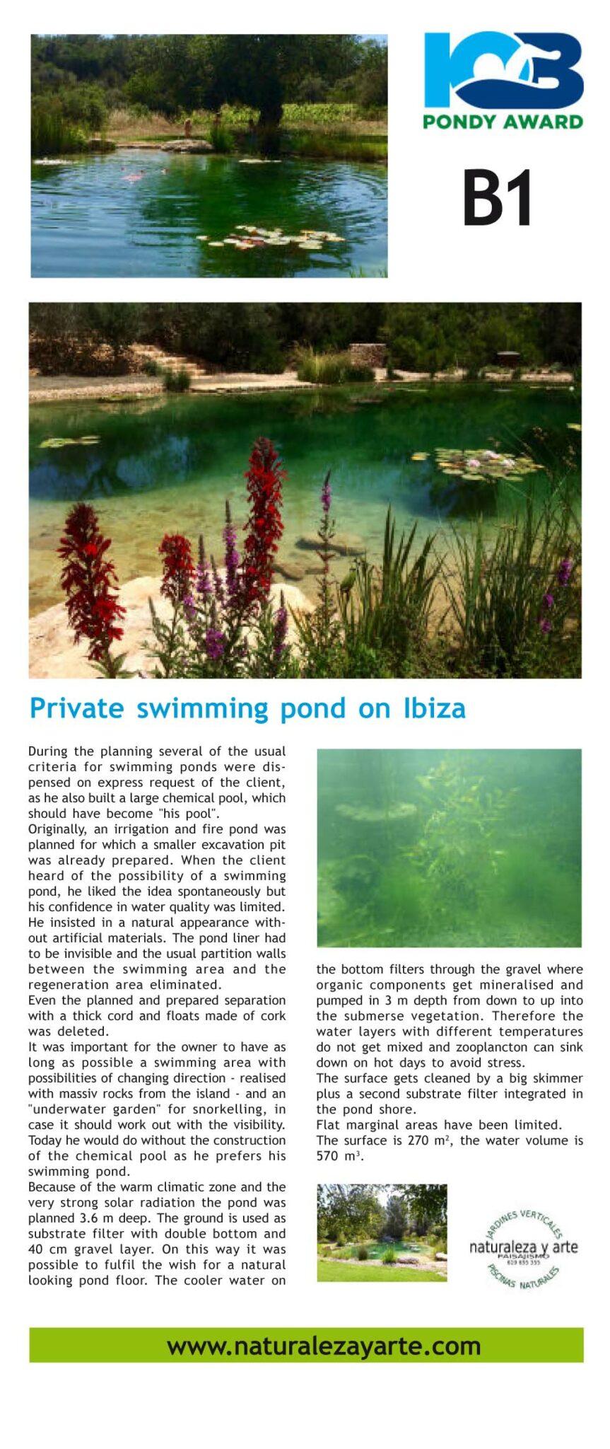 PONDY AWARD 2017 Swimming pond private Nominee naturaleza y arte